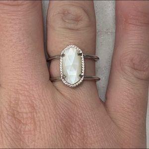 Kendra Scott Mother of Pearl Elyse Ring